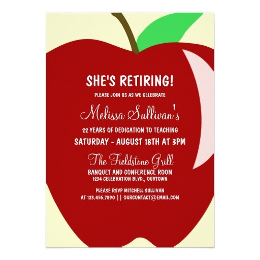 Teacher Retirement party invite