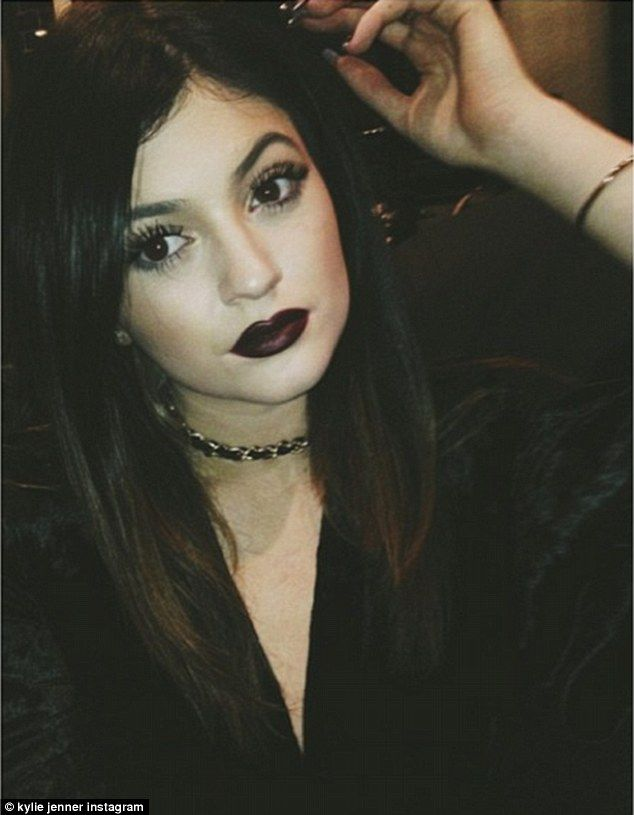 Kylie Jenner's selfie on Christmas Day. via dailymail.co.uk