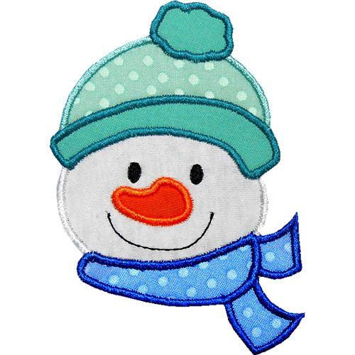 Free Snowman Applique Patterns | Snowman Head Applique Design