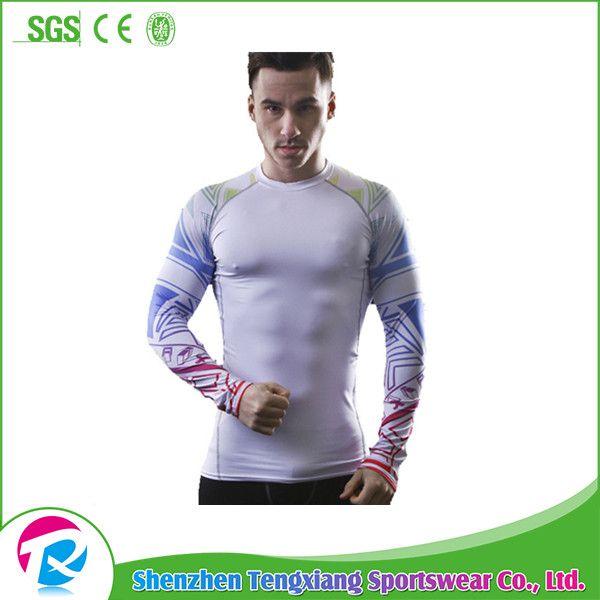 Top Selling Sports Fighting MMA Men Long Sleeves Rashguard