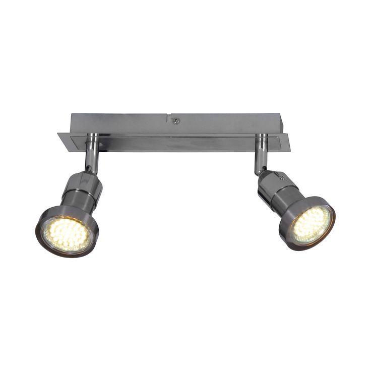 EEK A+, Deckenleuchte Spot - Metall - Silber - 2-flammig, Näve