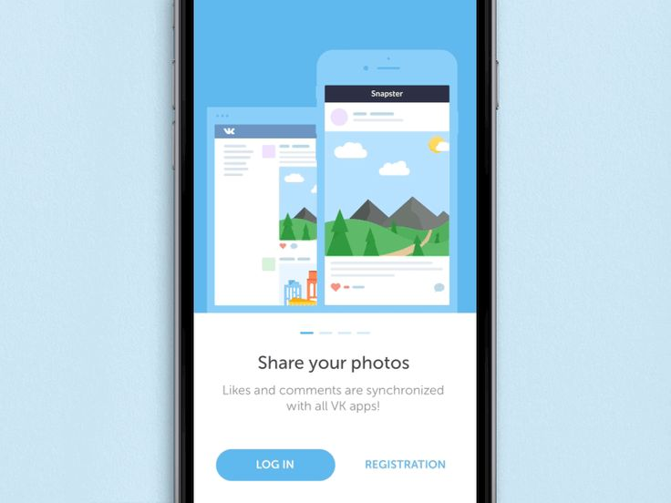 Welcome screen Snapster by Pavel Shumakov