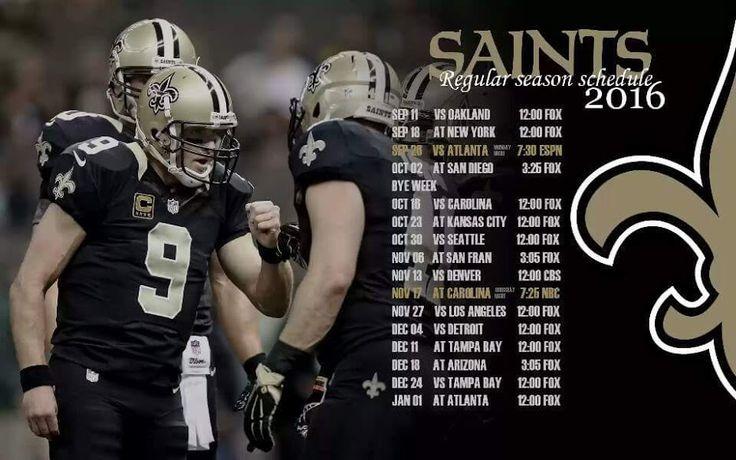 2016 Saints Schedule Desktop Wallpaper