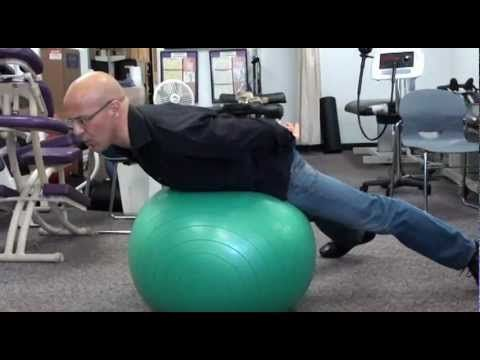 Lower Back Strengthening Exercises using Fitness Ball for Pinched nerve/Herniated Disc and lower back pain.
