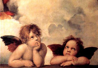 Angels by Michelangelo di Lodovico Buonarroti Simoni (March 6, 1475 – February 18, 1564) pattern stitch