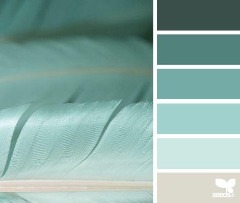 Une palette de couleurs que je trouve très reposante, idéale pour une chambre ou même une salle de bains