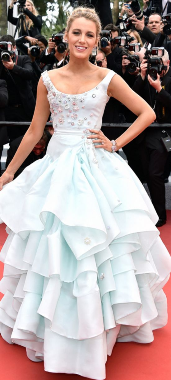 Who made Blake Lively's blue gown?