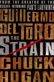 """Ep. 5 Season 4 """"We'll Always Have Baltimore"""" seen on library shelf. The Strain by Del Toro and Hogan."""