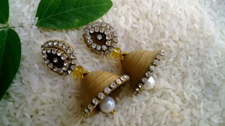 Quilling stud type jhumka