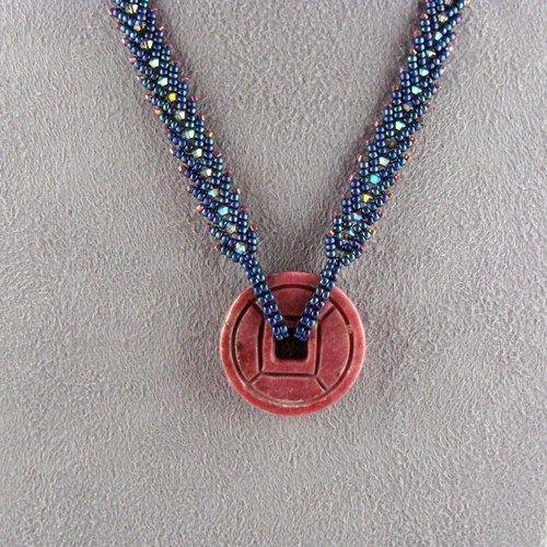 rhodonite wheel on st petersburg chain