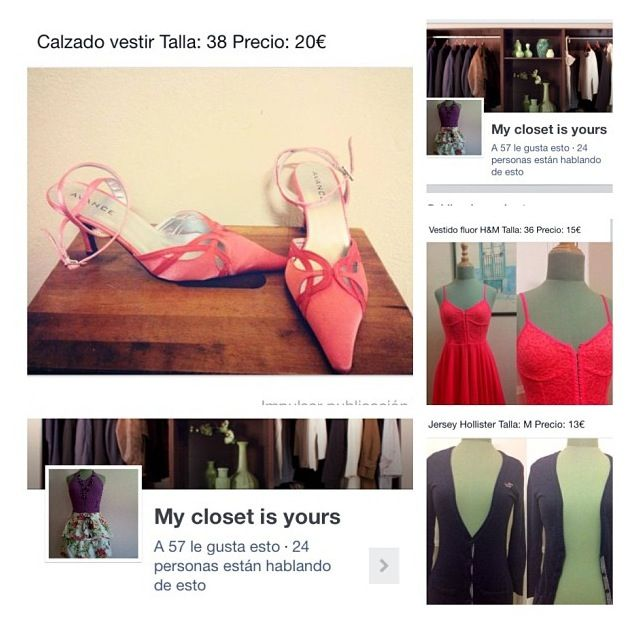 Echa una ojeada en FB a My closet is yours! Venta de ropa segunda mano y nueva!  Check out My closet is yours on Fb! Second hand and news clothes!!
