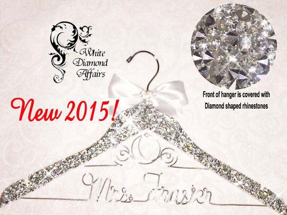 Bling Wedding Dress Hanger Personalized by WhiteDiamondAffairs