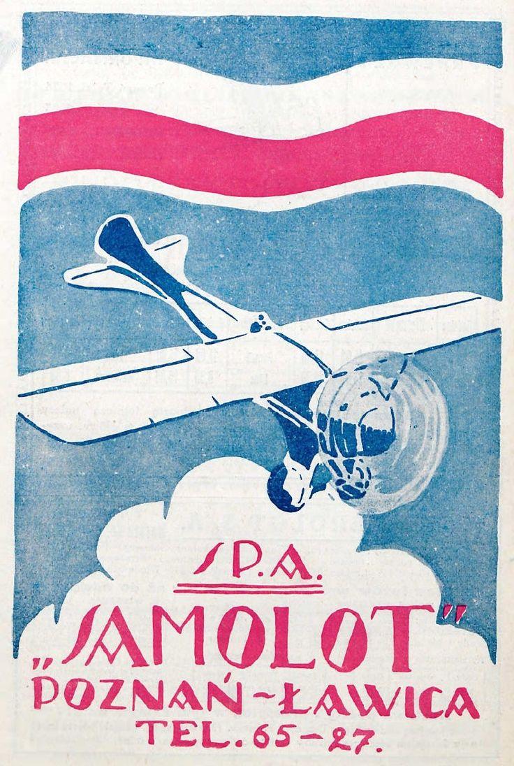 """Reklama: Wielkopolska Wytwórnia Samolotów """"Samolot"""" (1926 r.)"""