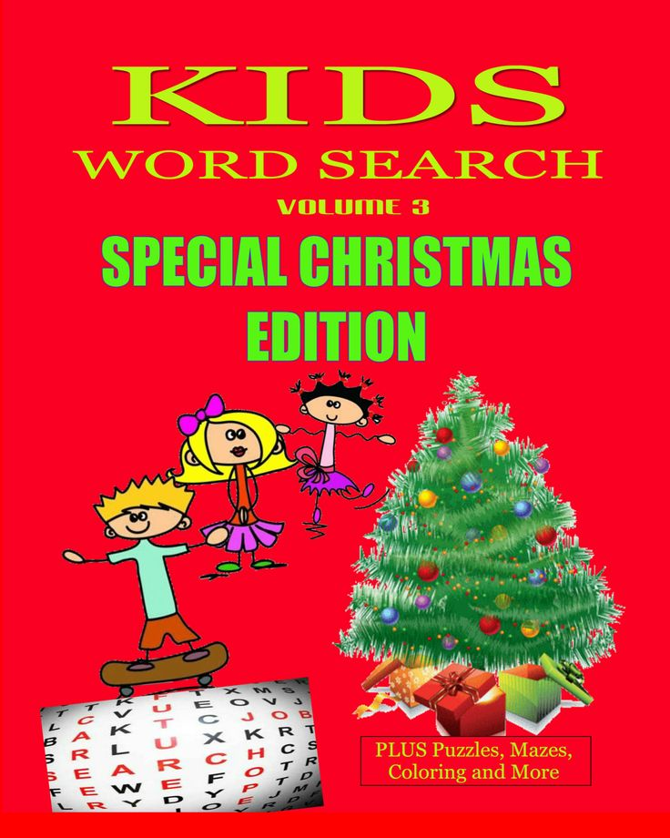 NEW TODAY.... Have fun with the kids this Christmas working on this Special Christmas Edition of Kids Word Search  https://www.createspace.com/5024907