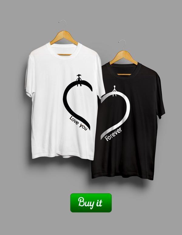    Ты, конечно, можешь купить цветы, нарисовать под ее окном сердце, сделать тату с ее именем. Но без этимх футболок ничего не получится. Поверь, мы проверяли.  #together #love #couple #husband #wife #forever #heart #любовь #girlfriend #boyfriend #Tshirt #любовь #пара