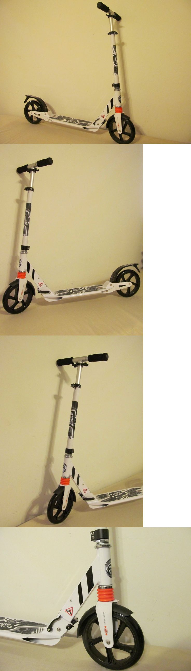 Kick Scooters 11331: Brand New Town Rider Big Wheels Adult Kick Scooter White Portable W Suspension -> BUY IT NOW ONLY: $59.99 on eBay!