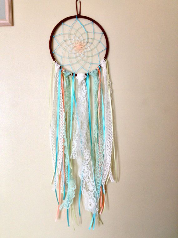 7 Inch Lace Dream Catcher by DreamDen on Etsy, $32.00