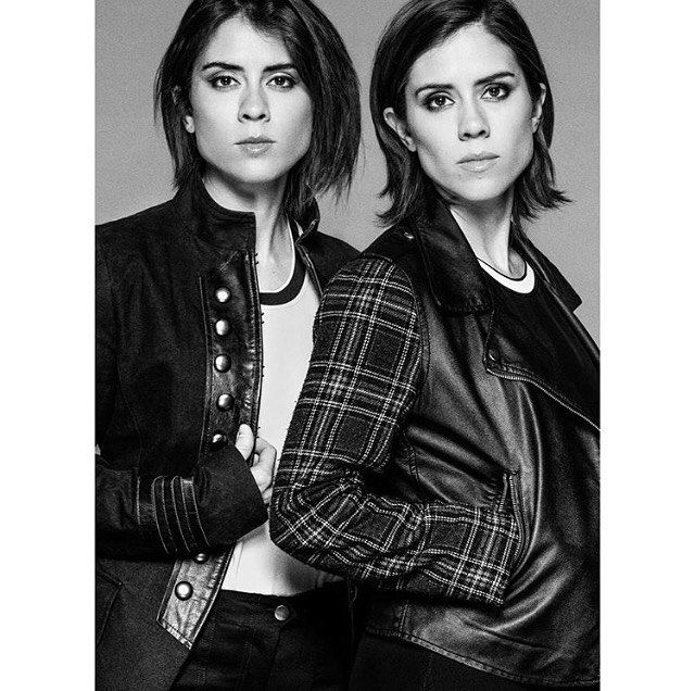 Tegan and Sara |Cool  @benedict_evans ! Had a blast on this shoot for @outmagazine
