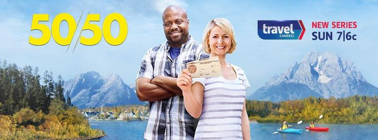 Check out my dear friend @thechrisgrundy as he hosts this AMAZE new show with @SamanthaBrown on @travelchannel #50/50