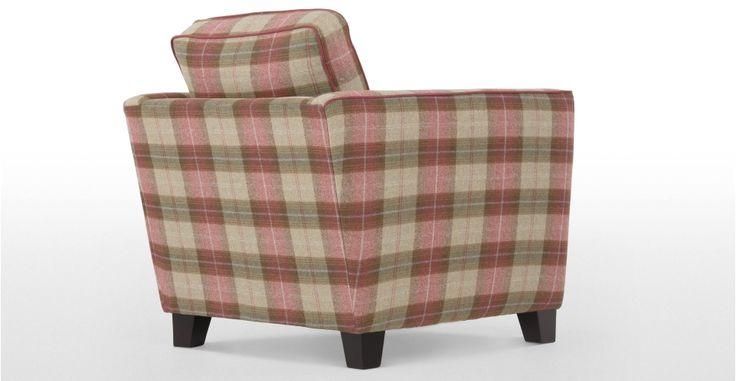 Wolseley, un fauteuil, beige plaid