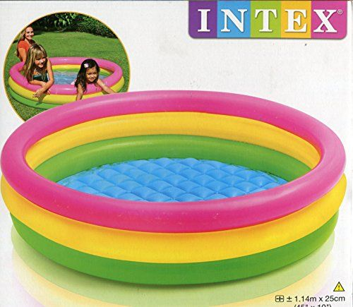 Intex – 57412- Piscine 3 Boudins Fond Gonflable