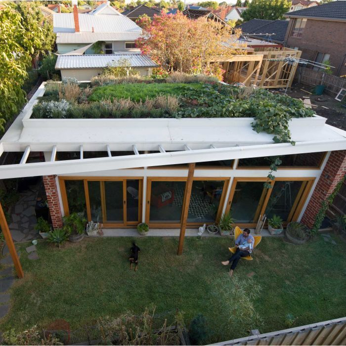 Emilio Fuscaldo installed a green roof on top of his family home in Melbourne and the architect has since cut his energy bills by more than a quarter.