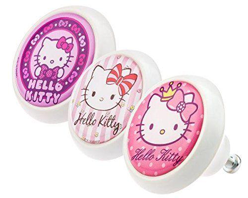 Diseñador Perilla para Muebles conjunto surtido 0324 Hello Kitty ¡Hola Kitty 3 piezas - moderna superficie en forma de cúpula en la óptica de vidrio - Perilla de los muebles, un armario, cajón, gabinete, manijas, porcelana