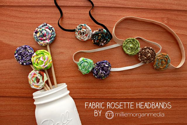 mommy is coo coo: How to Make Fabric Rosette Headbands