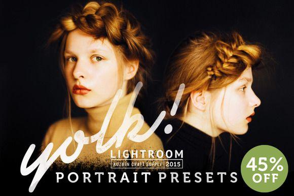 Yolk Lightroom Portrait Presets by Kuzmin craft supply on Creative Market