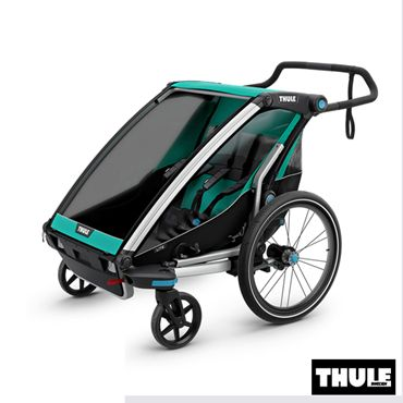 poussette double chez bebelelo laval et longueuil 900$ www.bebelelo.com #thule #thulestroller #greenstroller #jogging