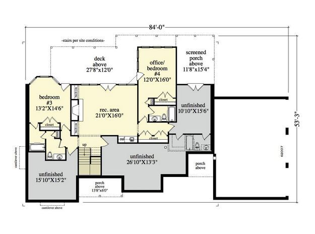 10 best images about craftsman plan 95700022 on pinterest for Craftsman floor plans with basement