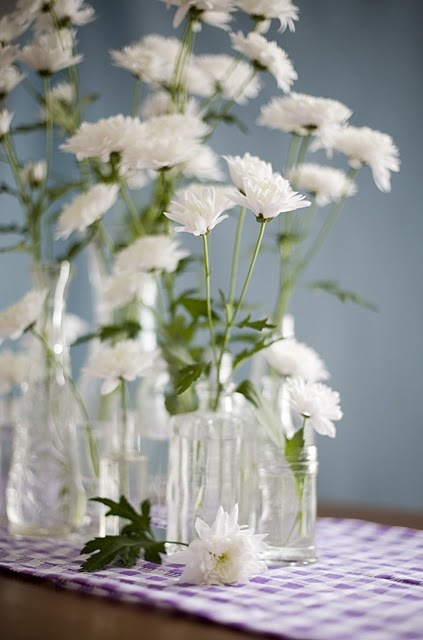 Creatively arranging flowers