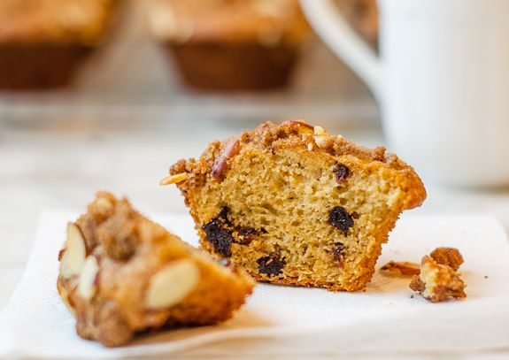 Dried Cherry Buttermilk Muffins with Almond Streusel - Once Upon a ...