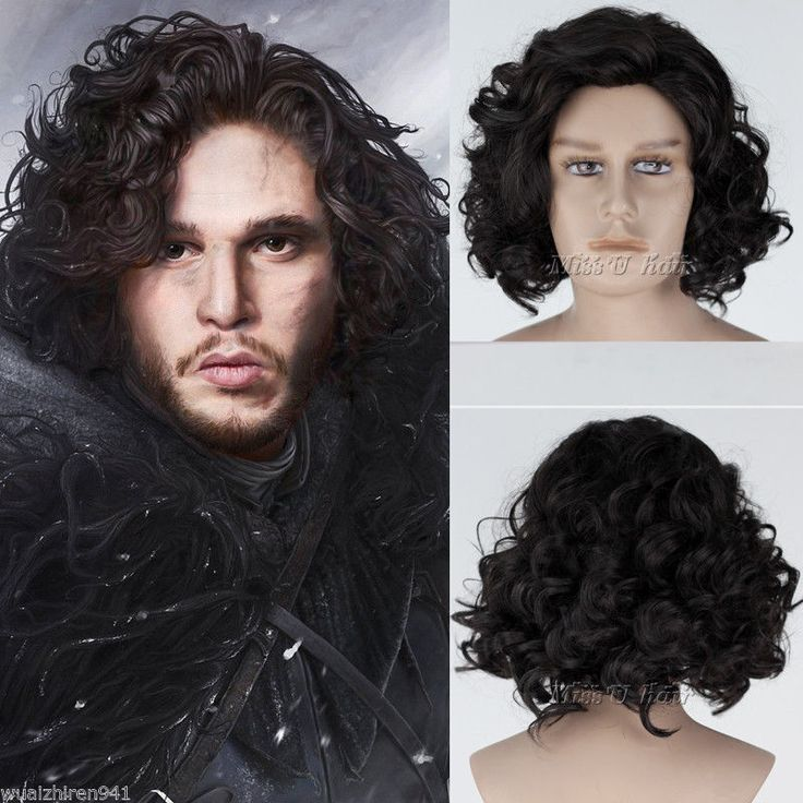Game of Thrones Jon Snow Short Black Curly Wig Synthetic Cosplay Anime Wig cos Synthetic Kanekalon fibre no Lace Front hair Wigs  //Price: $US $15.84 & FREE Shipping //     #gameofthrones #gameofthronestour #gameofthronesfamily  #starks #got #agot #asoiaf