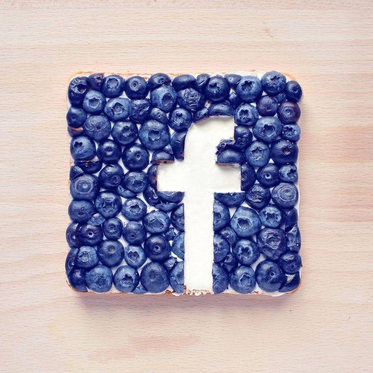 Le logo de #Facebook en food art.