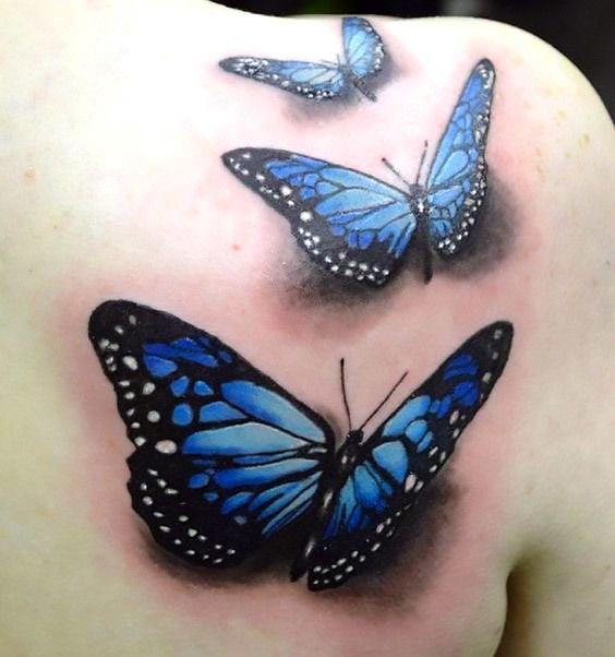 Blue 3d Butterflies Tattoo Idea 3d Butterfly Tattoo Realistic Butterfly Tattoo Blue Butterfly Tattoo
