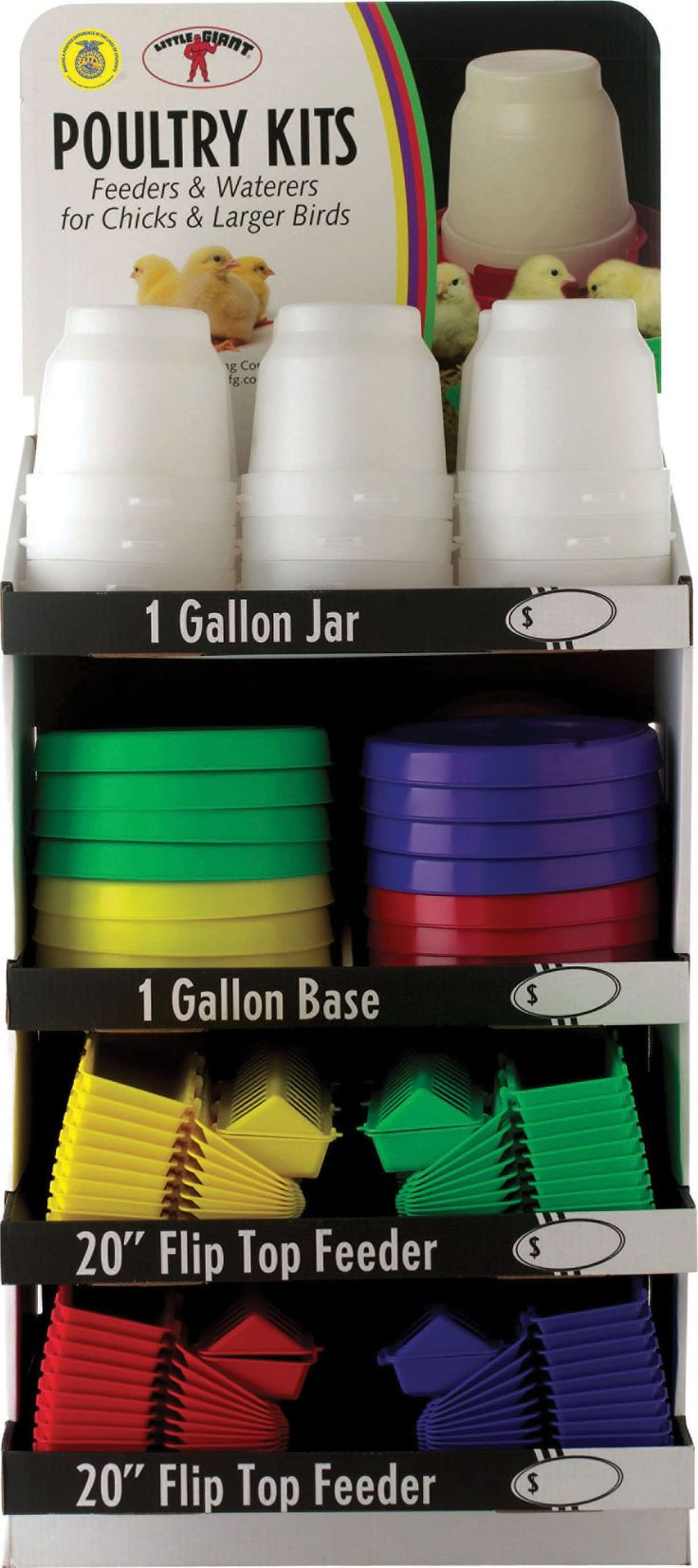 Miller Mfg Co Inc P-Little Giant Poultry Kit Display- Assorted 1 Gallon