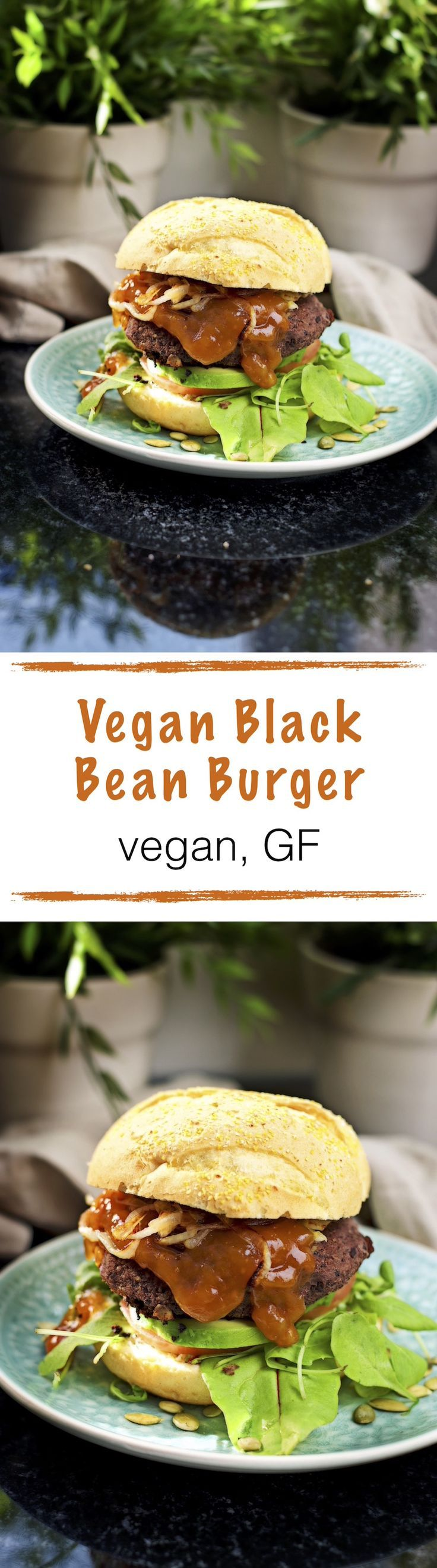 *new #recipe on the blog* Vegan Black Bean Burger Time for another #burger night. Here is the newest addition to my #vegan burger list: A Vegan Black Bean Burger. A freshly made patty with only 3 ingredients - with an optional indulgence: mango chutney. Of course, it's #glutenfree. And the first one from the new kitchen!