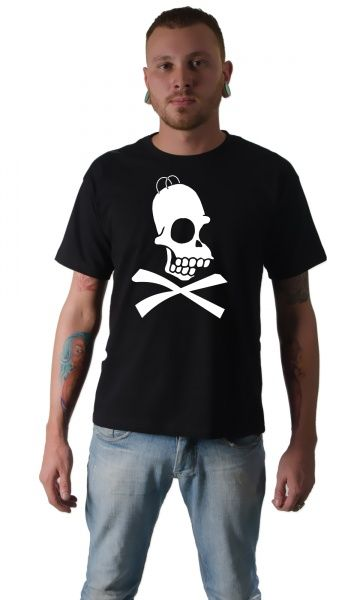 Camiseta Cartoon Homer Simpson Caveira por apenas R$29.99