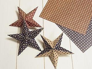 セリアの折り紙で立体お星さま|ゆみとままのおうち日記