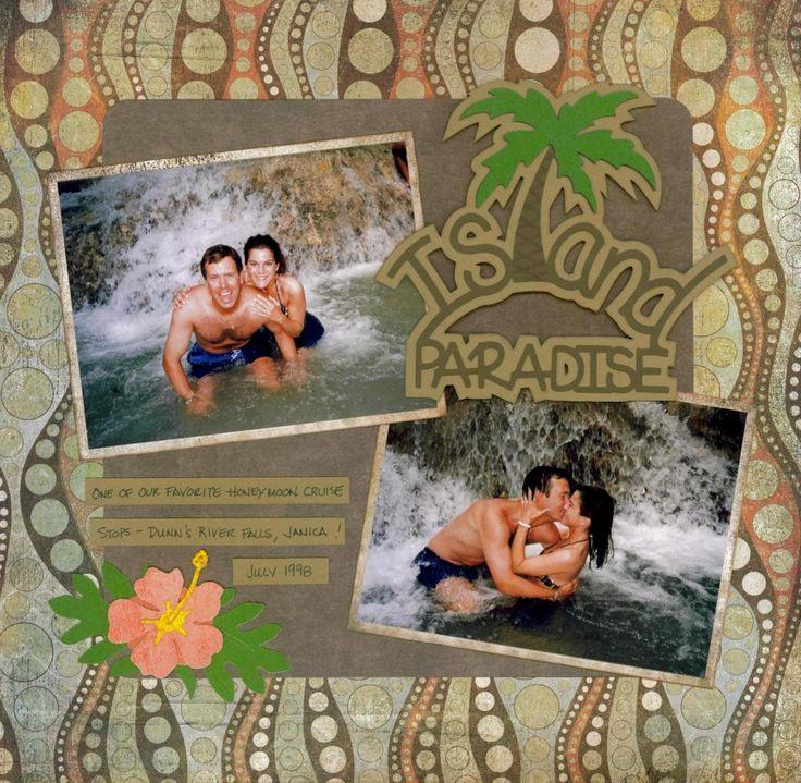 scrapbook page layouts cruise jamaica | Honeymoon Scrapbook Layouts