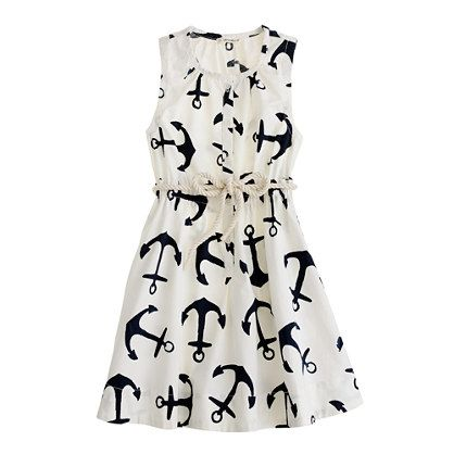 dizzy anchors sateen dress