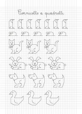 Resultado de imagen para cornicette a quadretti rysunki for Fogli da colorare e stampare
