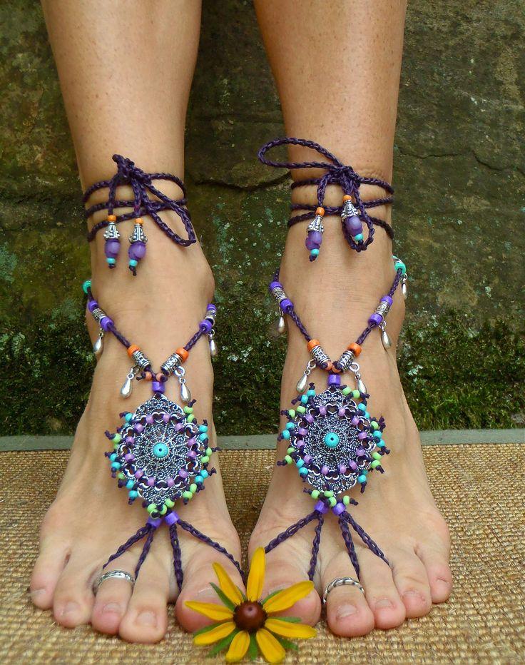 Unique Bohemian Jewelry | ... rainbow dance jewelry slave anklet foot jewelry bohemian shoes unique