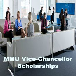 MMU Vice-Chancellor Scholarships for International Students in UK, and applications are submitted till  For courses starting in September 2017, the deadline for receipt of applications is 31st May 2017. For courses starting in January 2018, the deadline for receipt of applications is 31st October 2017.  Manchester Metropolitan University is offering a number of Vice-Chancellor scholarships for international students.