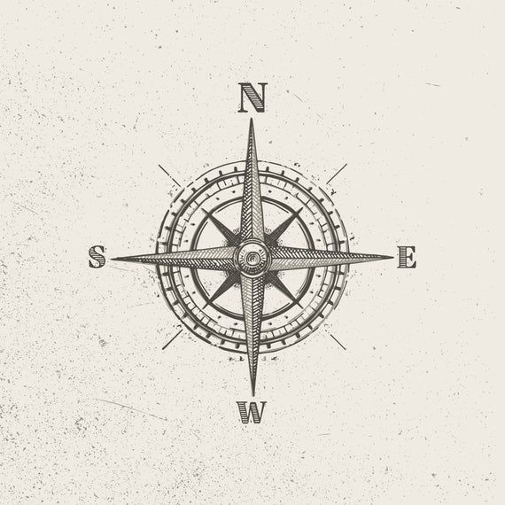Vector Vintage Compass Style A In 2020 Traditional Compass Tattoo Vintage Compass Tattoo Compass Tattoo