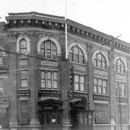 The bank during its early years, still at the same location today.