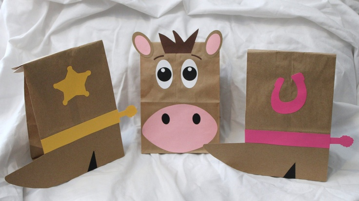 Western Cowboy Cowgirl Party Favors treat Goodie Bags Kids Birthday Party Theme Horse Favor Loot Goody Gift Sacks