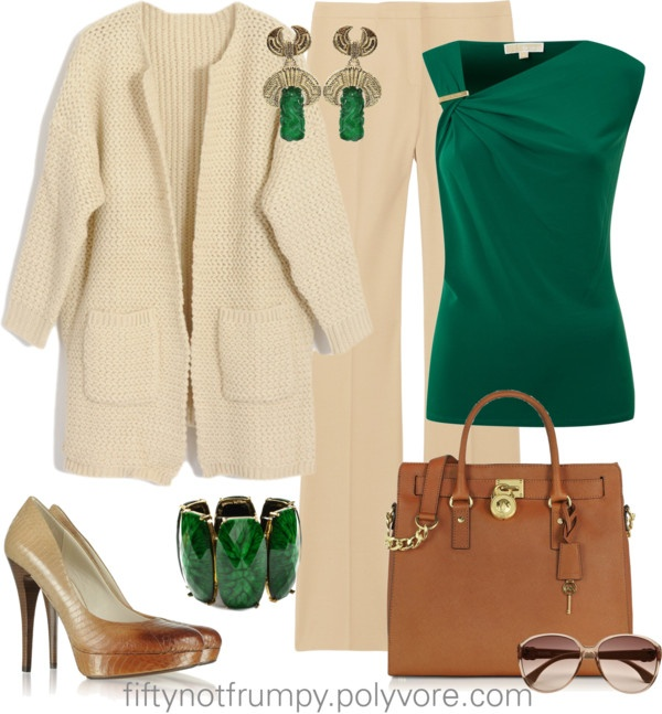 """The Color of the Year is Emerald Green"" by fiftynotfrumpy on Polyvore"