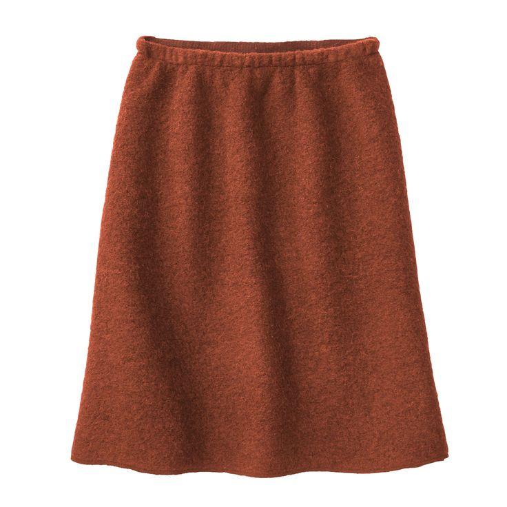 Enna fairtrade oranje terra wollen rok wollen skirt dark orange